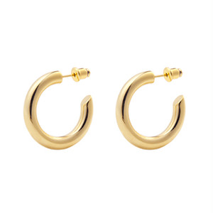 C design hoop pierce