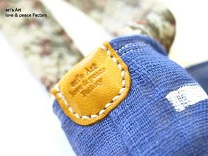 ステンシル+ゴブラン織り+革のバッグ Bag-119