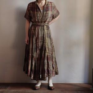 Cotton Plaid Dress / コットン チェック ドレス / マドラスチェック