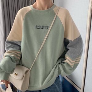 Spring color one point logo sweatshirts LD0626