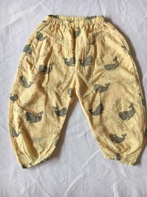whale  print pants マスタードS・Mサイズ