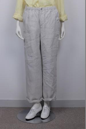 Lounge Pants リネンオックス 品番:47104 col.30 Ecru