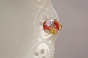 水中花の片耳用イヤリング