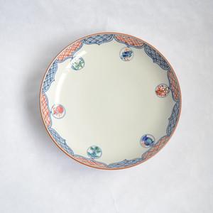レトロな絵付の丸大皿
