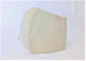 蒸れにくい綿100% 立体布マスク(無地・ライトグレー)大人用Lサイズ