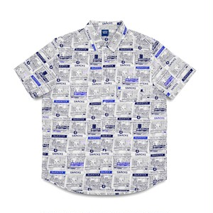 QUARTERSNACKS / VENDER S/S BUTTON UP -WHITE-