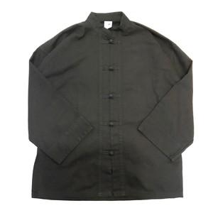 【USED】チャイナシャツ ジャケット ブラック