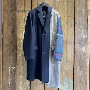 DIET BUTCHER SLIM SKIN / silkwool patchwork coat size2