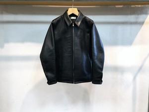 "semoh""leather blouson black"""