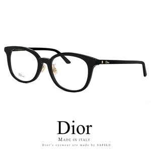 Dior メガネ montaigne57f-807 眼鏡 ディオール Christian Dior クリスチャンディオール ウェリントン ボストン 黒ぶち 黒縁