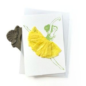 スカートふわふわの踊り子カード 黄色の踊り子