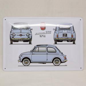 FIAT 500 CLUB ITALIA Nuova 500 プレート