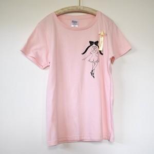 ラスト1☆えがしらはなこ☆バレリーナTシャツ☆ピンク