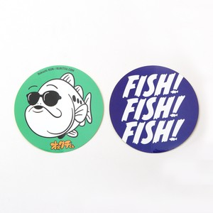 70mm FISH! & OokuchiKUN CIRCLE STICKKER SET
