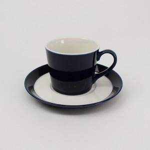 【SL0036】磁器 コーヒーソーサー ネイビーブルー