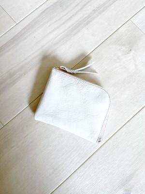 純白サイフ シン L字財布 カードケース 本革 ホワイト