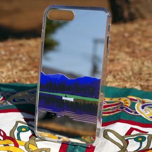 iPhone X, XS, 8, 7用ミラーケース カナダ・ユーコン川 ゴールド