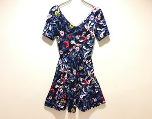 open back flower one-piece