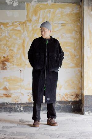 【BURNER×THE STRAIT】8ウェルストレッチコーデュロイビッグポケットコート #OLIVE