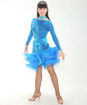 ドレス・ワンピースNo.7064 / ライトブルー
