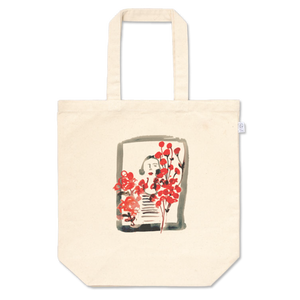 Red flowering window 赤い花の咲く窓 Tote