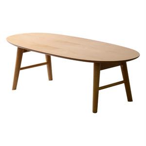 脚折れ木製センターテーブル