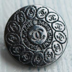 723-2 CHANEL(ヴィンテージ シャネル) COCOマーク ボタン ブラック