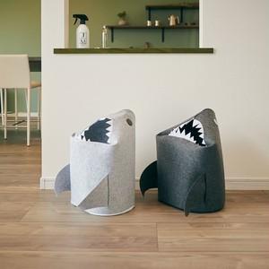 プレゼントにも最適♪折りたたみフェルトストレージ「shark」収納ボックス