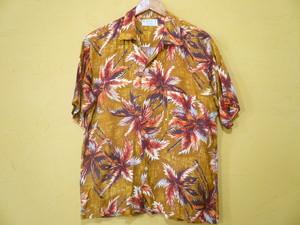 US ビンテージ レーヨン 巻き縫い Made In Japan 日本製 ハワイアンシャツ / 50s 60s OLD