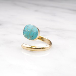 SINGLE TURQUOISE OPEN RING 02
