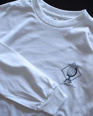 Looptown original 「LESSON FROM THE MOTHER EARTH」L/S Tshirts [White]