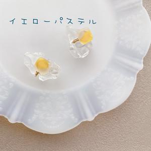 イエローパステルイヤリング:sweets of glass