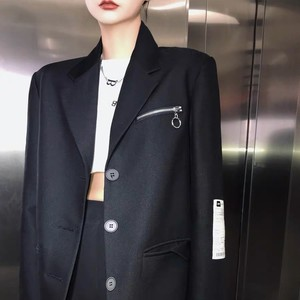 label sleeve tailored jacket