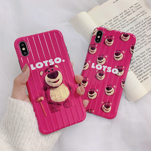 【小物】可愛いキュート熊iPhone8plus/x/XS Max/XR/iPhoneX/7p/6/6sスマホケース