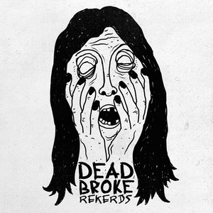 dead broke rekerds / face t-shirt