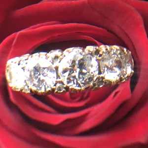 Old European cut Diamond half hoop Ring