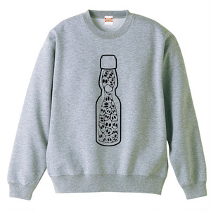 [スウェット] Skull bottle/ Gray
