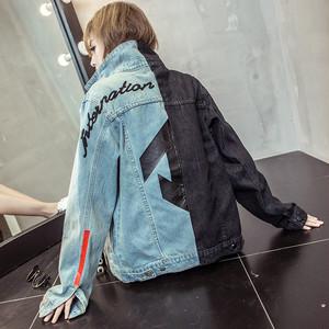 【アウター】ストリート系切り替えプリント配色ジャケット25973627