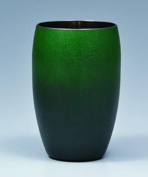 炭粉蒔ビアタンブラーS(緑)