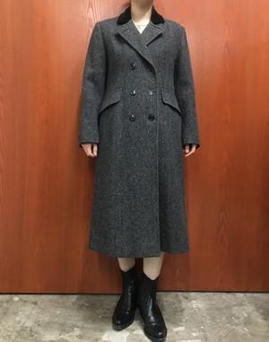 KAREN made in USA velours collar wool pea coat【S位】