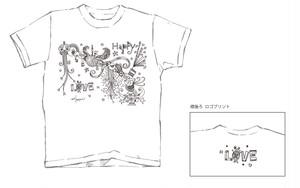 LOVE ART Tシャツ/【ラブハピいも虫Sparkle】