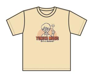 【在庫限り】ヨコタフェスTシャツ  ③ダイヤモンドヨコタT(アイボリー)