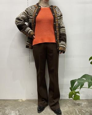 LAUREN acrylic low gauge knit sweater 【PS】