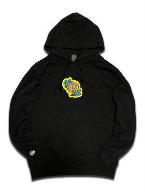 PEACE PATCH PILE HOODIE black