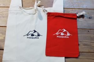 MOGURA登山のエコバッグ&コットン巾着セット(赤)