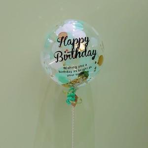 【スティック(M)コンフェッティ入り】HAPPY BIRTHDAY