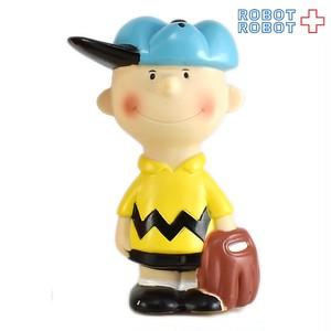 チャーリーブラウン 野球 ソフビ貯金箱 ピーナッツギャング