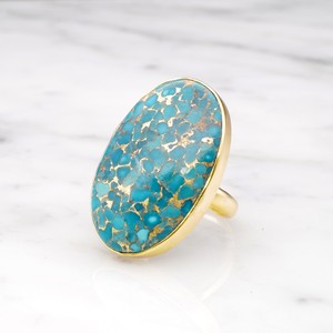 SINGLE BIG STONE RING GOLD 092