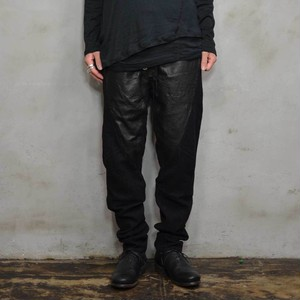Wool Combination / Loose Pant 〈Black〉