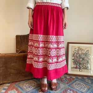 手刺繍 エスニックスカート 中南米